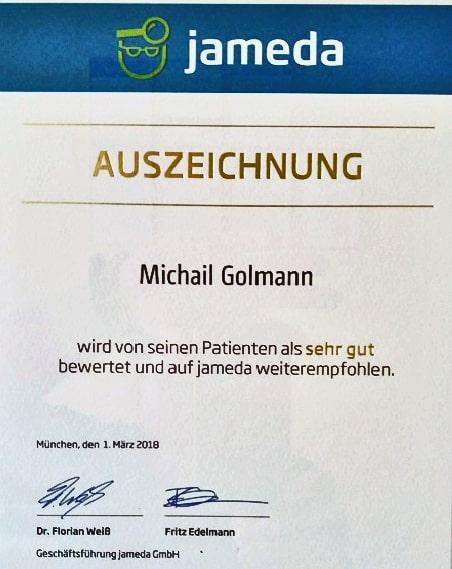 Zahnarzt Krefeld - Auszeichnung