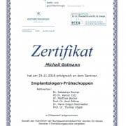 Zahnarzt Michail Golmann - Implantate
