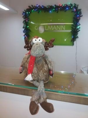 Zahnarzt Michail Golmann wünscht ein frohes Weihnachtsfest!